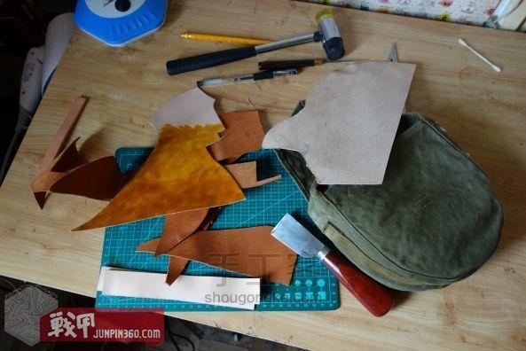 从弹夹袋到相机包-一款老帆布的改造教程 第6步