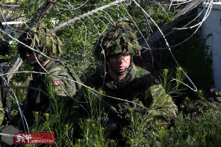 加拿大军队现役的CADPAT TW迷彩