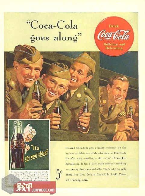 可口可乐几乎成了美军的一张名片