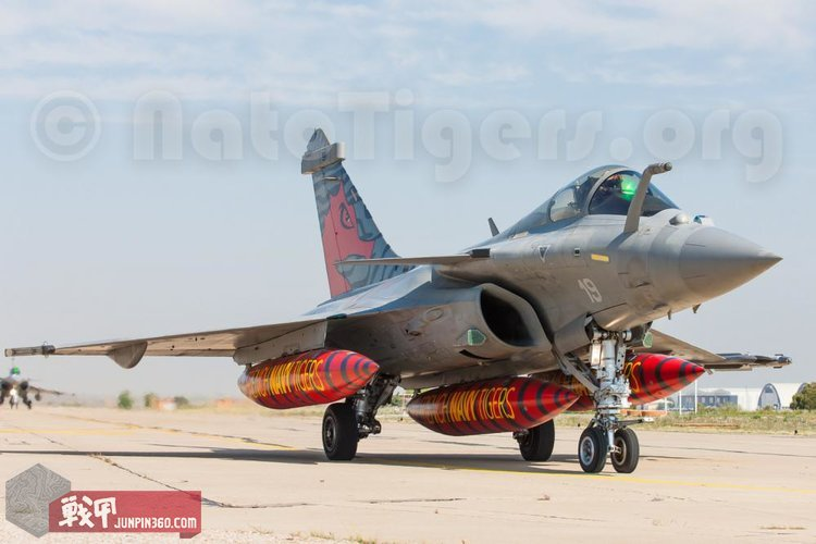 5 Nato Tiger Meet 2018中的法国海军的阵风M舰载机.jpg