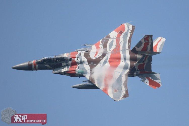3 飞行教导群极富特色的F-15DJ涂装,除了显示自身特色外,更加重要的作用恐怕是在训练中进行敌我识别.jpg