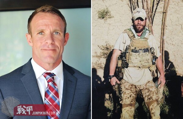 "Special Warfare Operator Chief Edward ""Eddie"" Gallagher in Iraq in 2017 and back home in the United States. (photos provided)"