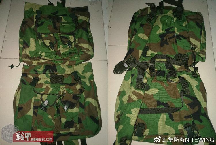 不看背面的标识戳是很难在外观上分辨狙击手作训包和机枪手作训包的