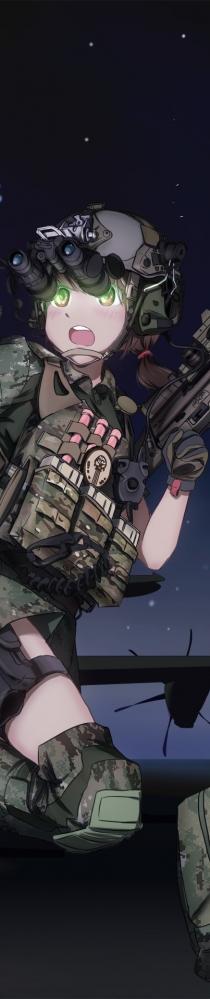 最近搜集的一些军事萌娘图片
