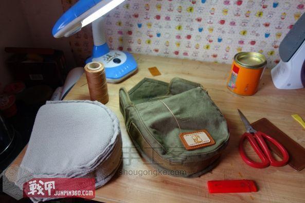 从弹夹袋到相机包-一款老帆布的改造教程 第8步