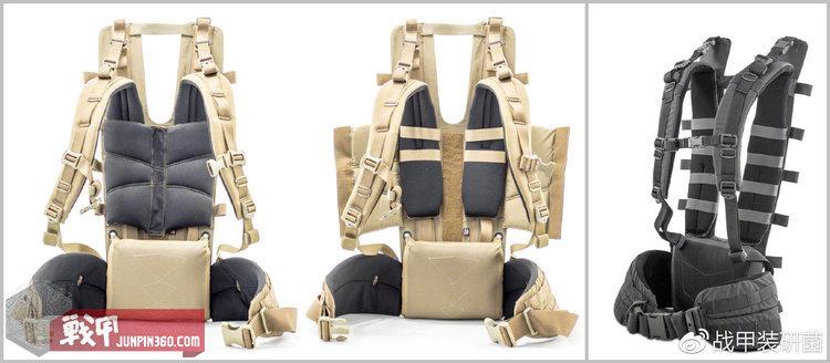 第三代Duplex背架肩垫与新款背架肩带末端连接方式对比。